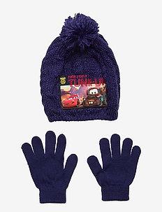 SET 2 PCS HAT & GLOVES - hue & vanter sæt - purple