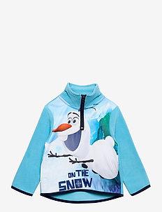SWEAT HALF ZIP 100%PE - fleecetøj - turquoise