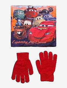 SET 2PCS COLLAR & GLOVES - winterkleding - red