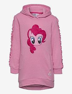 DRESS WITH LONG SLEEVES - kapuzenpullover - pink