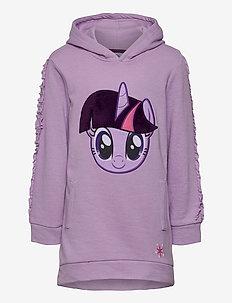 DRESS WITH LONG SLEEVES - kapuzenpullover - purple