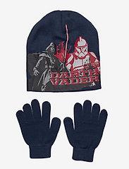 Star Wars - SET CAP + GLOVES - vintertilbehørssæt - navy - 0