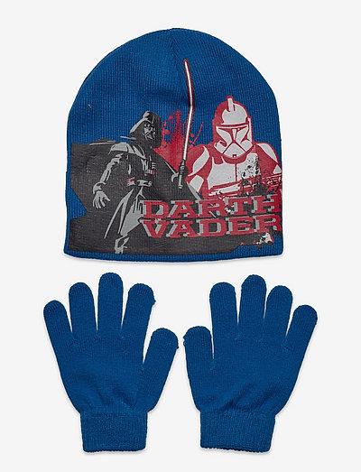 SET CAP + GLOVES - winter-accessoire-set - blue
