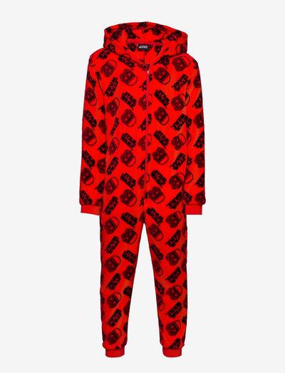 PYJAMA OVERALL - sets - red
