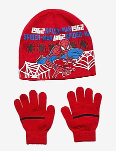 SET2PCSCOLLARGLOVES - hoed - red