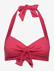 Solid  Halter Top - RIOT RED