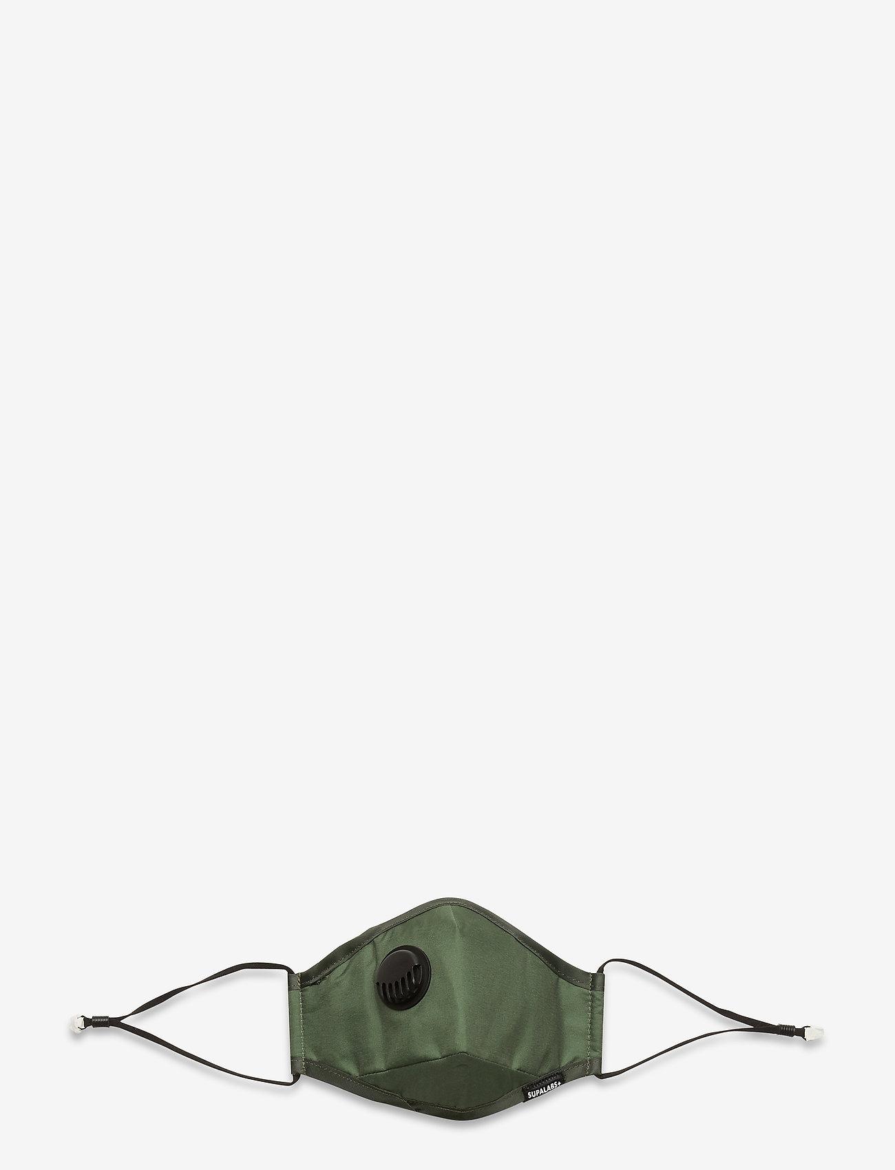 SUPALABS - LI ADULT HERO MASK ARMY GREEN - ansiktsmasker - army green - 1
