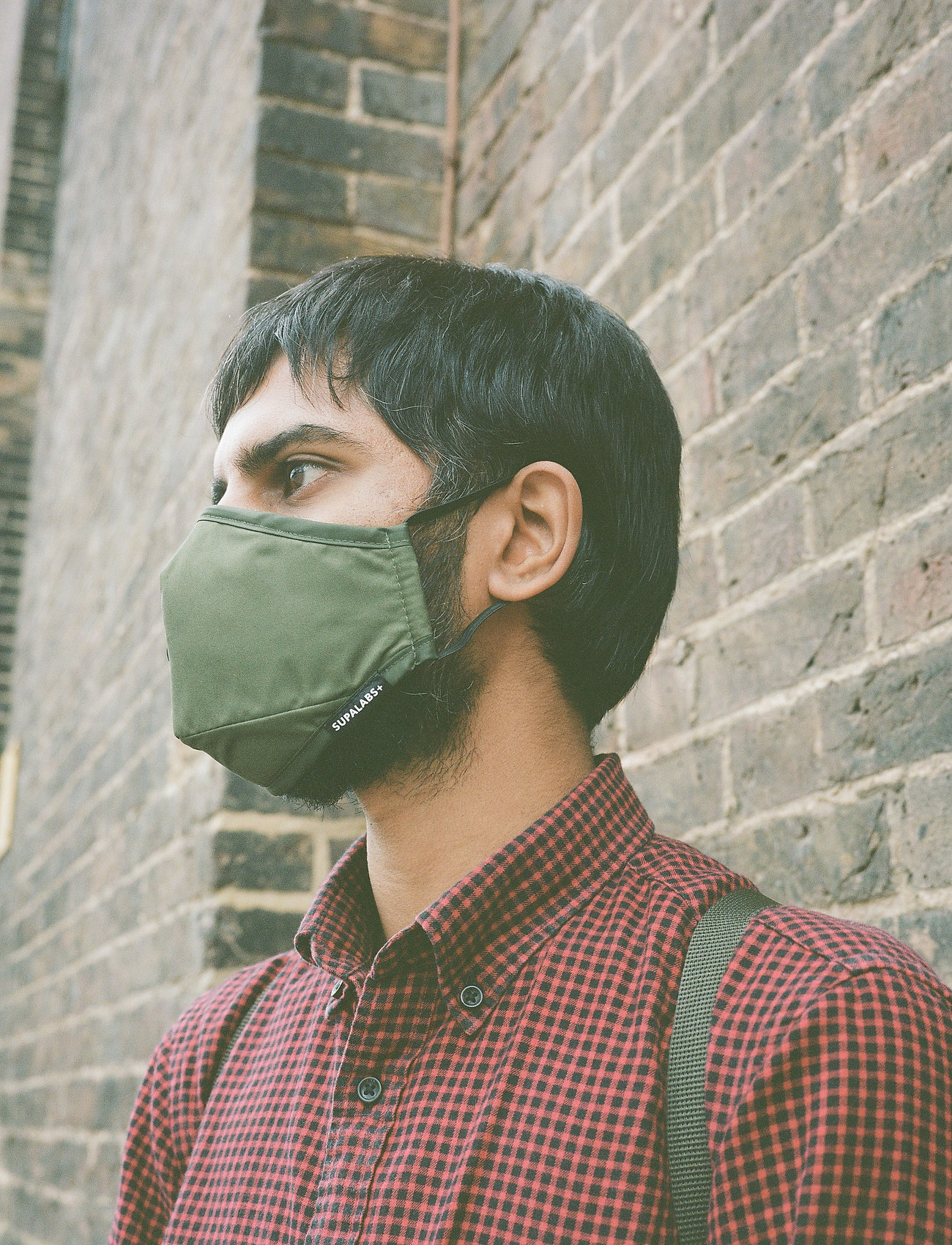 SUPALABS - LI ADULT HERO MASK ARMY GREEN - ansiktsmasker - army green - 0