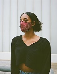 SUPALABS - LI ADULT HERO MASK RED PAISLEY - ansiktsmasker - red paisley - 2