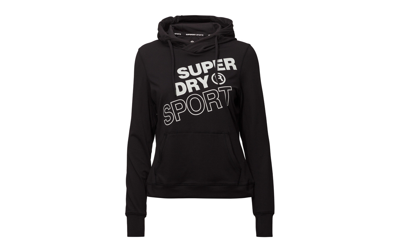 Polyester Hood Graphic Core 12 Black Superdry 88 Sport Équipement Elastane q0OPHH