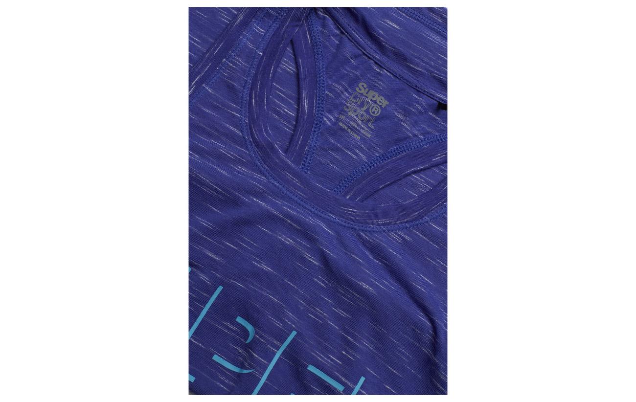 Pima 5 Core Sport Superdry Loose Équipement Vest Blue Coton Elastane 95 Electric zFvwqvR