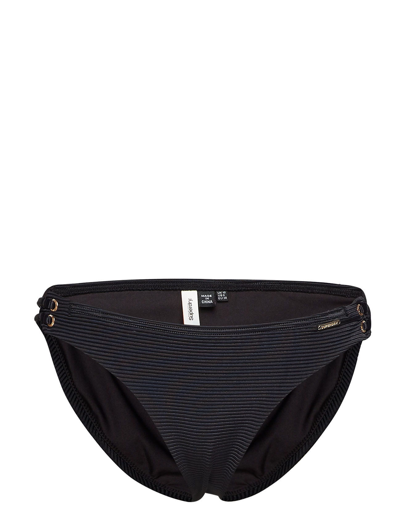 Superdry Sport ALICE TEXTURED CUPPED BIKINI BOTTOM - BLACK