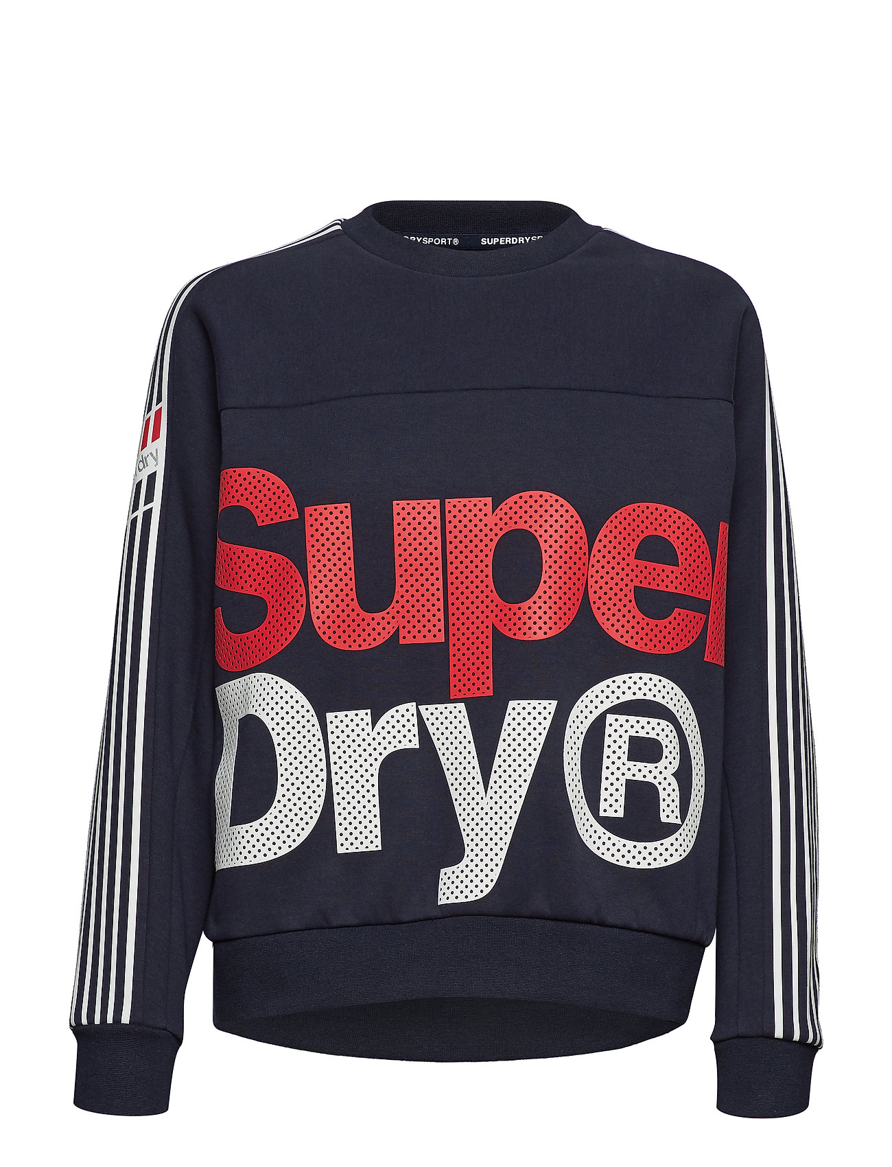 Superdry Sport ATHLETICO CROP CREW - NAVY