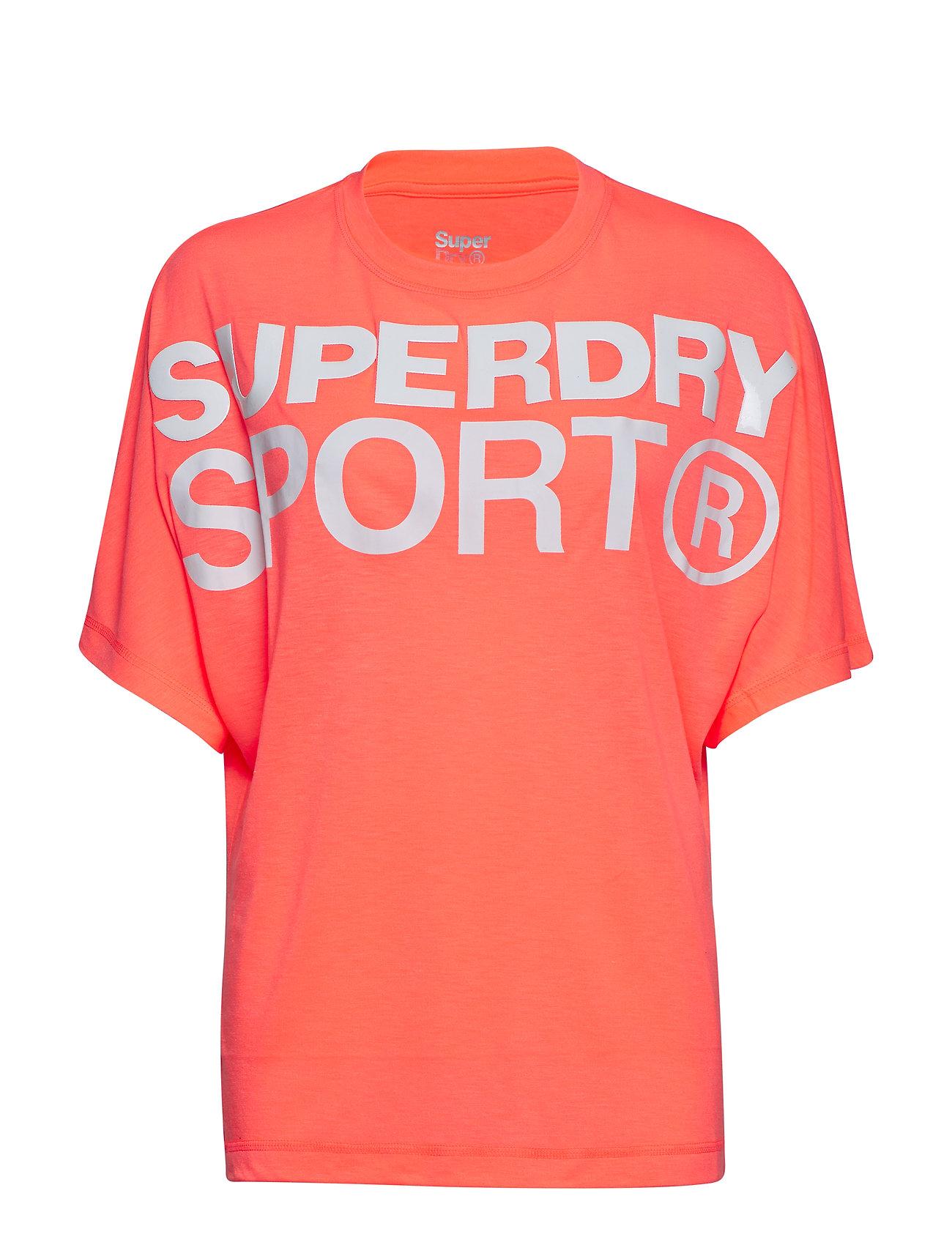 Superdry Sport ACTIVE LOOSE BF TEE - PASTEL CORAL