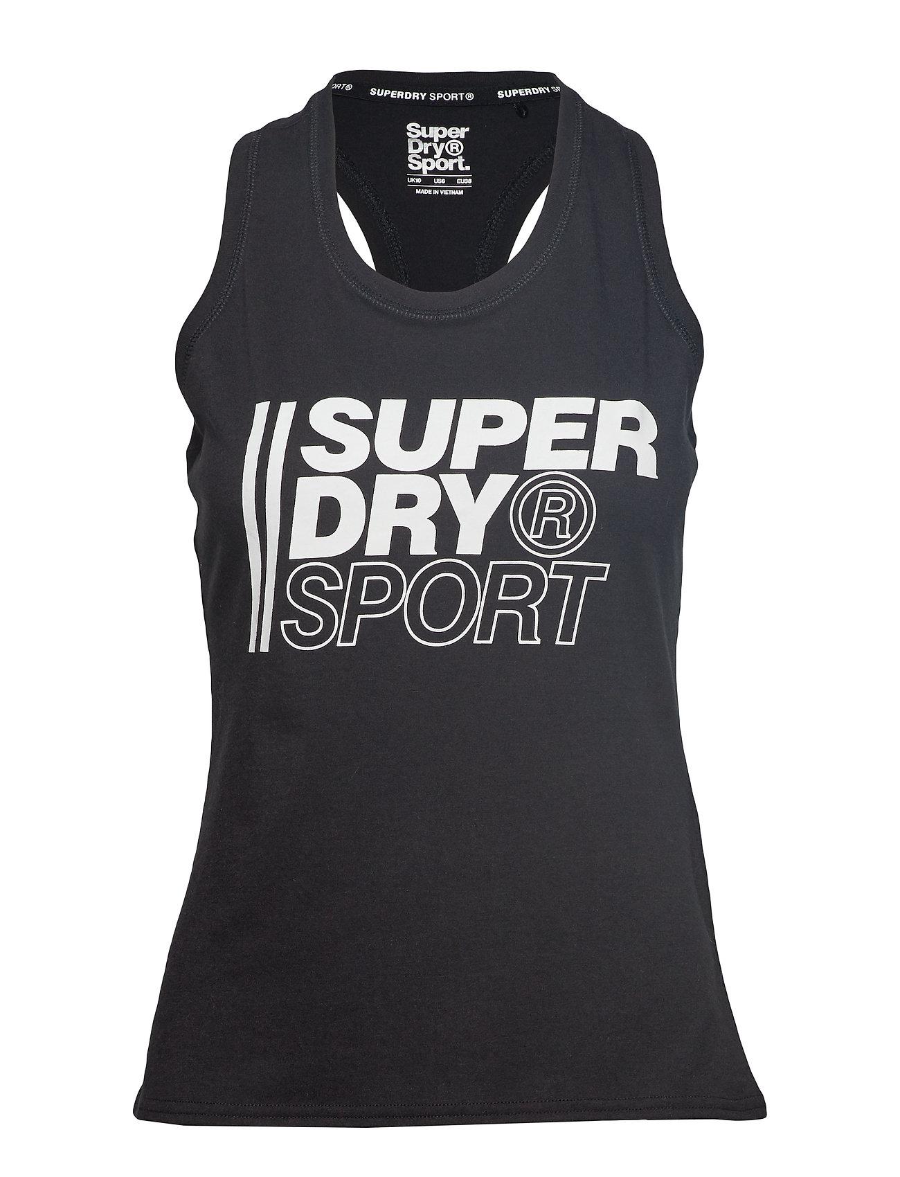 Superdry Sport CORE SPORT GRAPHIC VEST - BLACK