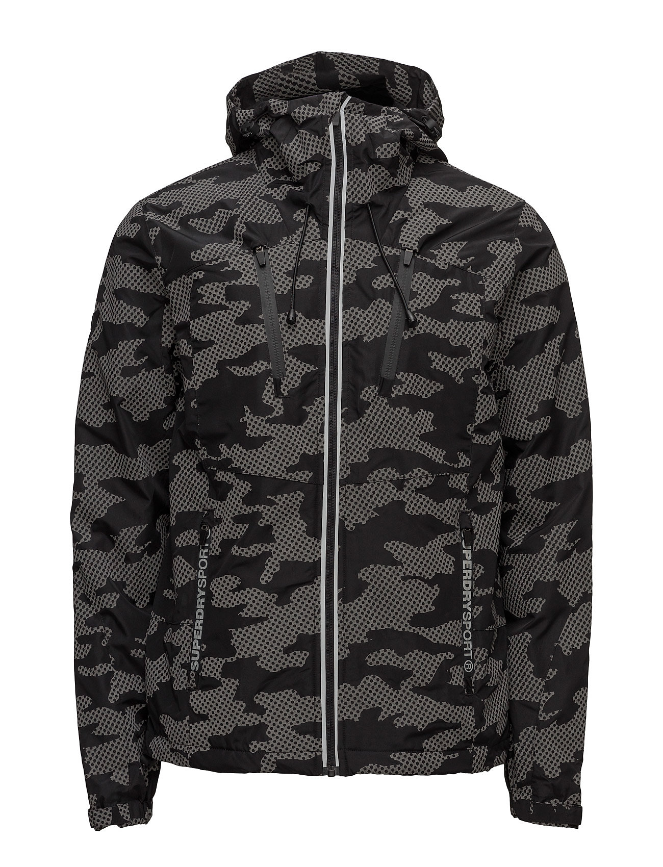 Superdry Sport TRAINING TECH CAGOULE - BLACK/REFLECTIVE CAMO