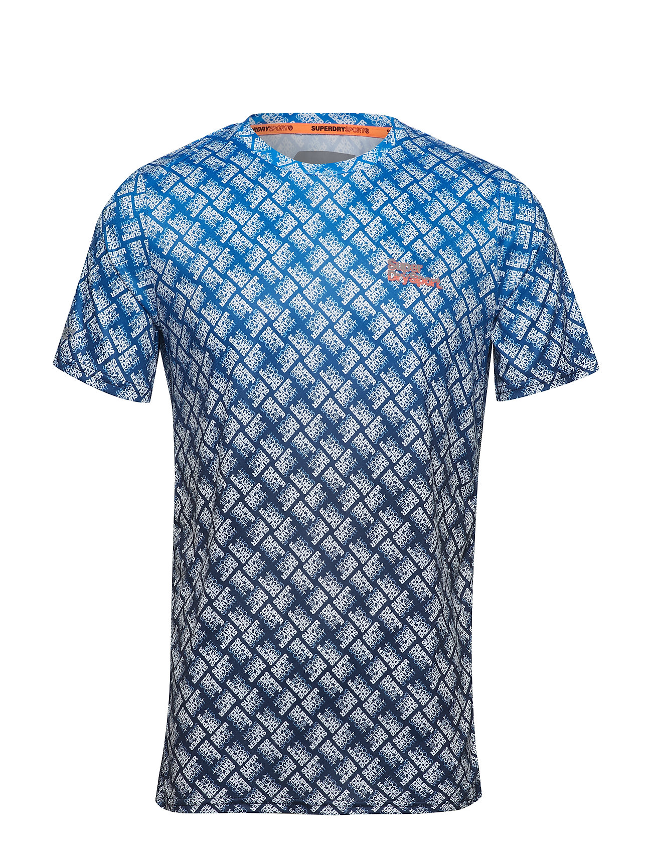 Superdry Sport ACTIVE OMBRE FADE TEE - BLEACHED BLUE/WHITE FADE