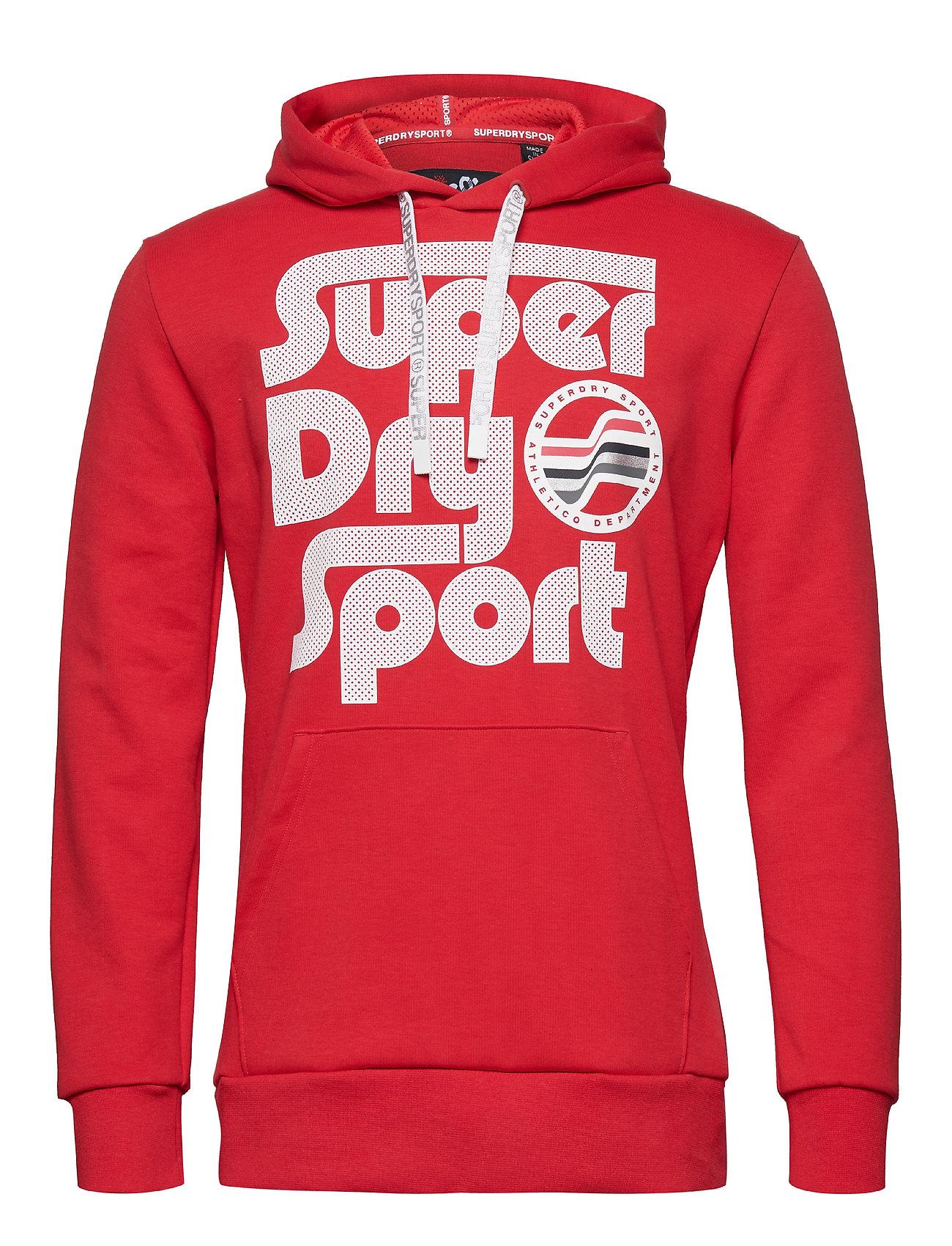 Superdry Sport SURF SPORT HOOD - RED