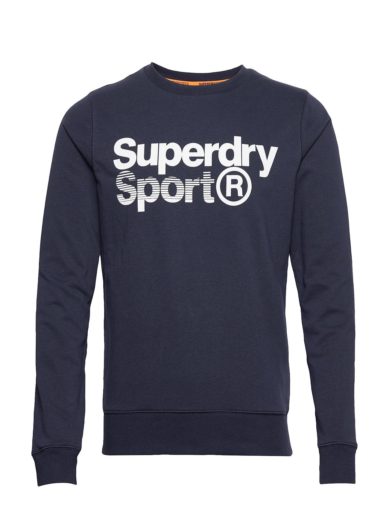 Superdry Sport CORE SPORT CREW - NAVY