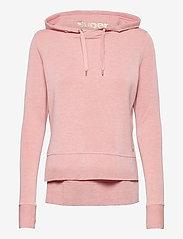 Superdry Sport - ACTIVE STUDIO LUXE HOOD - hoodies - dusk pink marl - 0
