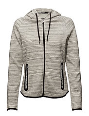 SD SPORT GYM TECH LUXE ZIPHOOD - GREY SLUB