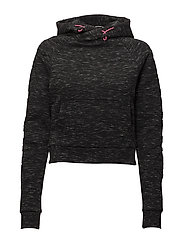 GYM TECH WRAP HOOD - BLACK GRANITE MARL
