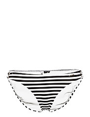 ALICE TEXTURED CUPPED BIKINI BOTTOM - MONO STRIPE