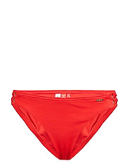 ALICE TEXTURED CUPPED BIKINI BOTTOM - NAUTICAL RED