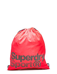 DRAWSTRING SPORTS BAG - FLURO PINK