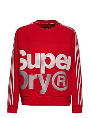 ATHLETICO CROP CREW - RED