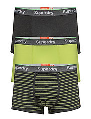 SPORT TRUNK STRIPE TRIPLE PACK - DRK SMOKE GRIT/DRK SMOKE GRIT/CUBA GREEN