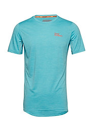 ACTIVE TRAINING S/S TEE - BLEACHED BLUE SPACE DYE