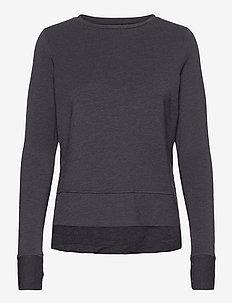 ACTIVE STUDIO LUXE CREW - sweatshirts - black marl