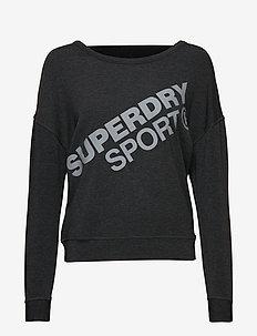 ACTIVE GRAPHIC CREW NECK - sweatshirts - black marl