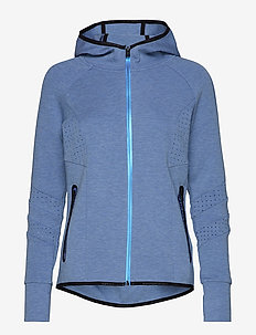 CORE GYM TECH PANEL ZIPHOOD - INFINITY BLUE MARL
