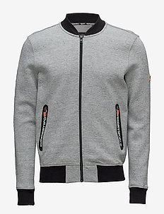 GYM TECH BOMBER - grey grit