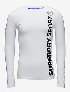 SPORTS ATHLETIC L/S TOP - WHITE