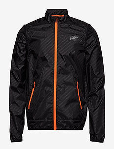 ACTIVE CONVERTIBLE JACKET - BLACK REFLECTIVE DIAGONAL