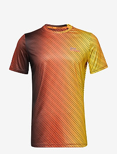 ACTIVE AOP TEE - FLURO ORANGE OMBRE