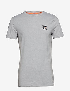 CORE S/S SIGN OFF TEE - LIGHT GREY MARL