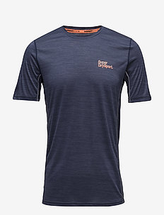 ACTIVE TRAINING S/S TEE - DARK NAVY SPACE DYE