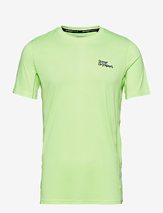 ACTIVE TRAINING S/S TEE - t-shirts - fluro yellow space dye