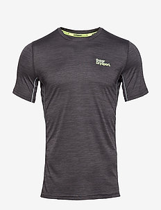 ACTIVE TRAINING S/S TEE - STEEL GREY SPACE DYE