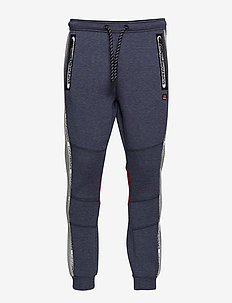 GYM TECH TAPED JOGGER - NAVY WHITE FEEDER/GREY