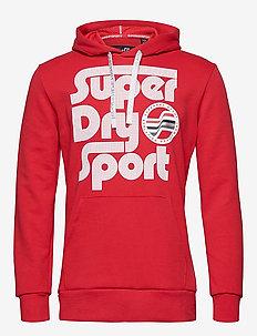 SURF SPORT HOOD - huvtröjor - red
