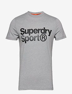 CORE SPORT GRAPHIC TEE - LIGHT GREY MARL