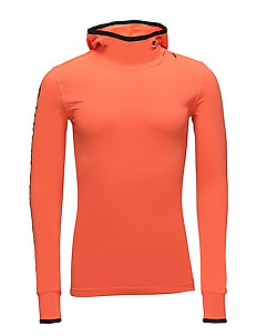 GYM SPORT RUNNER HOOD - FLURO ORANGE