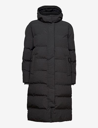 TRAIN LONGLINE PADDED JACKET - winter coats - dark charcoal