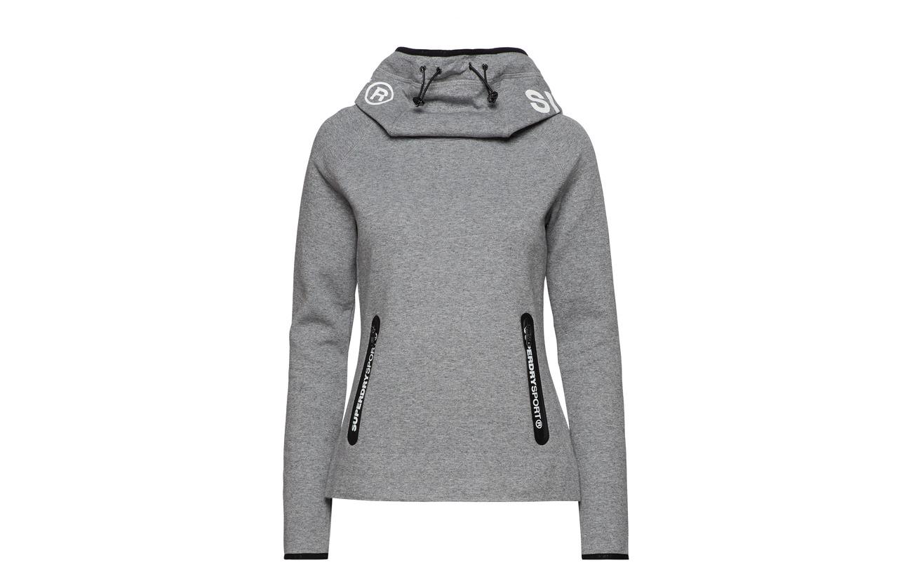 8 Elastane Gym Superdry Hood Équipement Speckle Tech Polyester Cowl 92 Charcoal zwwvq61nS