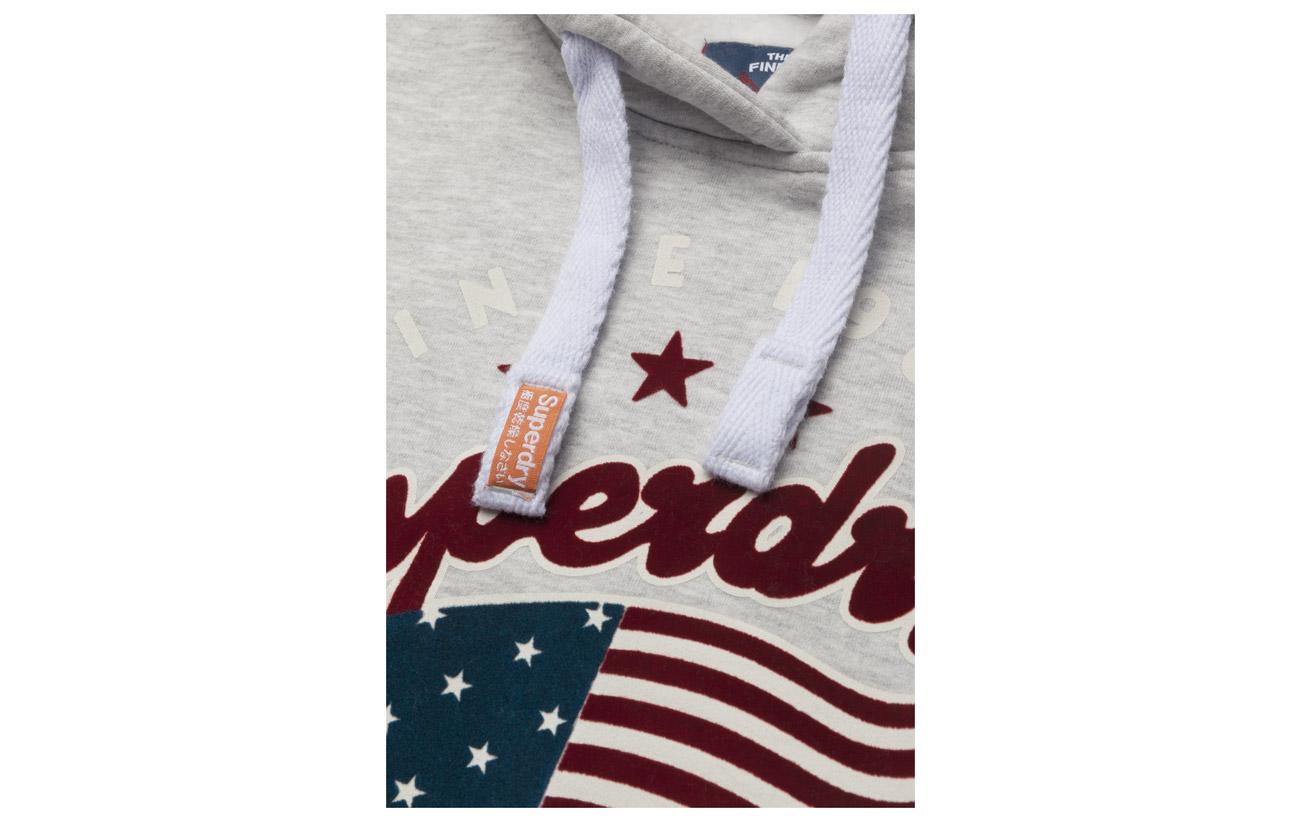 Superdry Marl Nevada Polyester Grey Coton 60 Powdered Crop Hood Équipement 40 ZwaXrxZqR